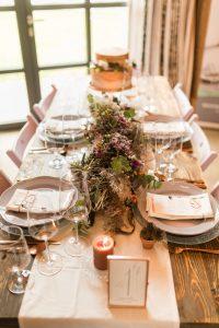 Hochzeitstafel mit Dekokonzept