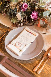 Gedeck Hochzeitsdekor