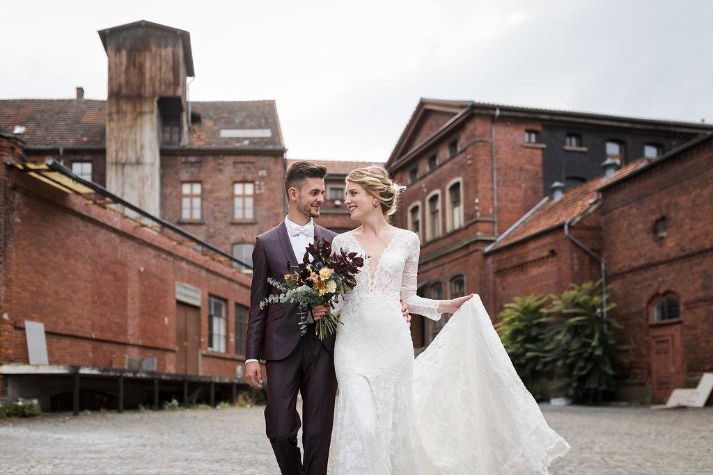 Hochzeitslocation mit Brautpaar